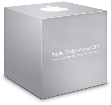 Caixa do Apple Design Awards (ADA) 2011 da WWDC