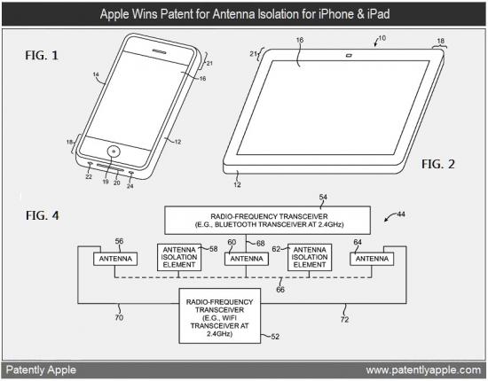 Patente de antenas com isoladores
