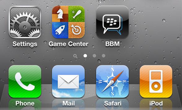 BBM no iOS