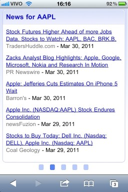 AAPL nas buscas do Google pelo iPhone