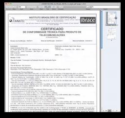 Certificado de homologação do iPad 2