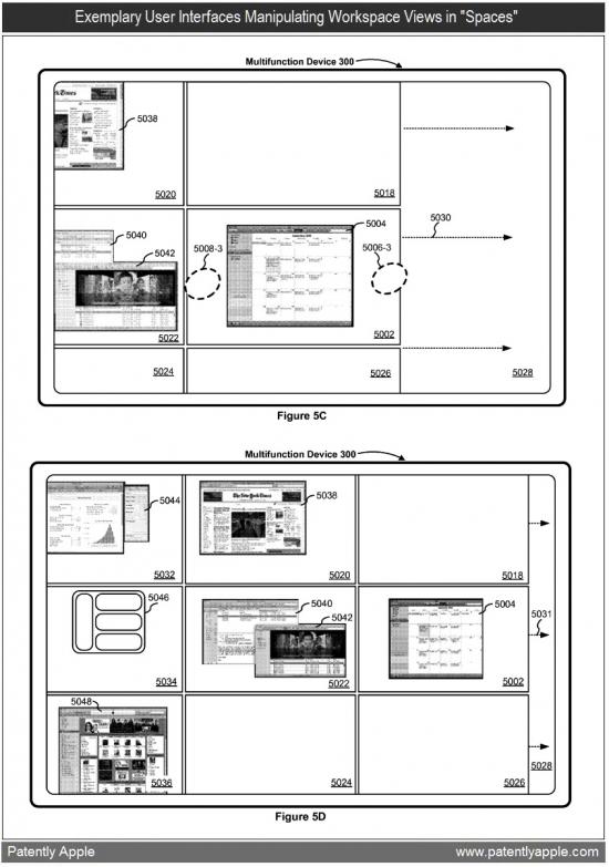 Patente de Spaces no iPad