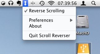 Scroll Reverser para Mac OS X