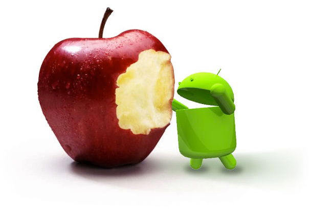 Android comendo a Apple