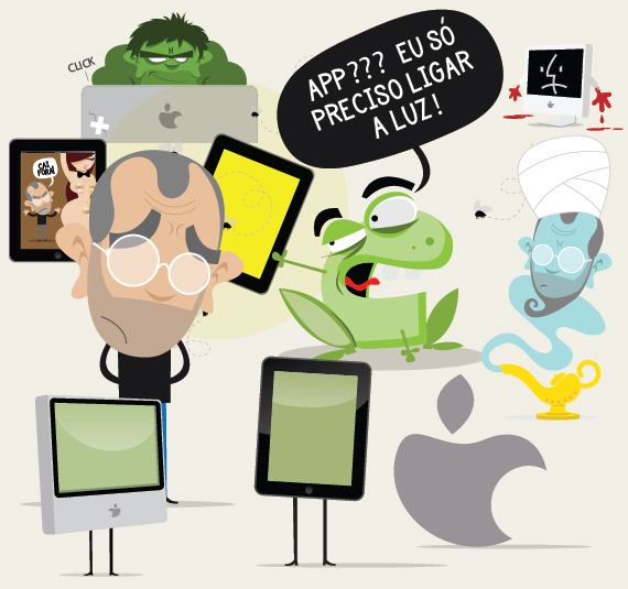 Personagens Apple - Tirinhas Behind the websites