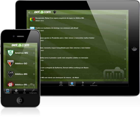 iFutebol Bet9 - iPad e iPhone