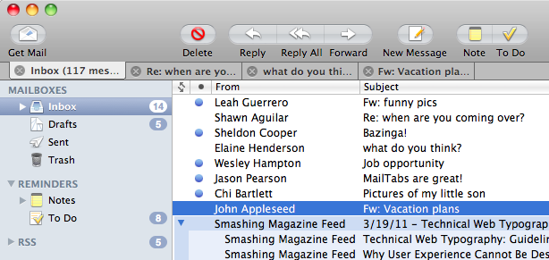 MailTabs para Mac