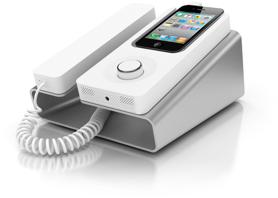 KEE Desk Phone Dock com iPhone