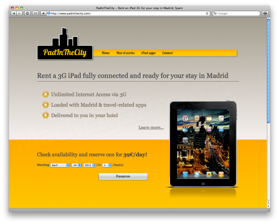 PadInTheCity - iPad em Madri