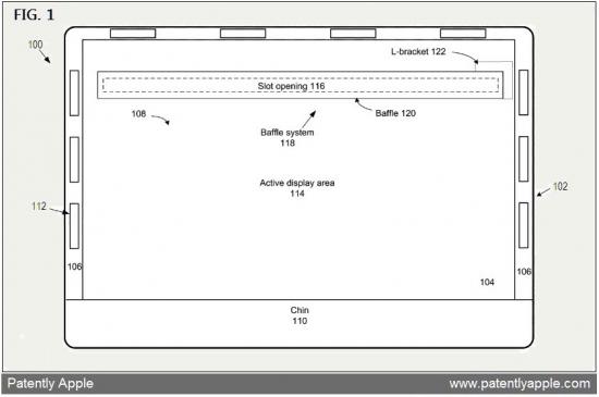 Patente de fenda de ventilação em iMac