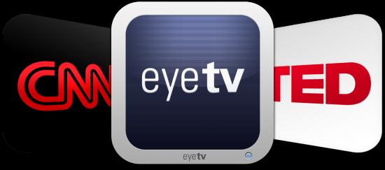 Ícones - EyeTV, CNN e TED