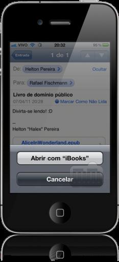 Salvando arquivo ePub no iBooks