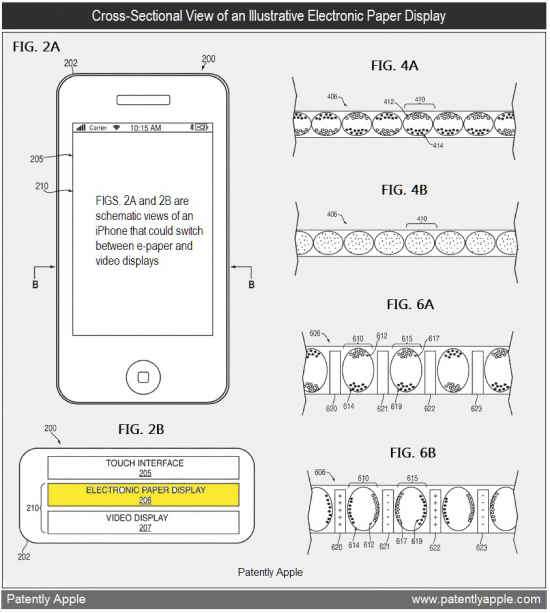 Patente de display LCD e-ink híbrido
