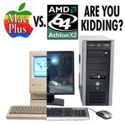 Comparação entre Macintosh Plus e Athlon