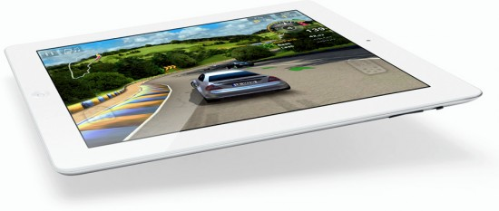 iPad 2 voando com jogo