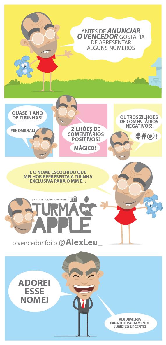Tirinha - Turma da Apple