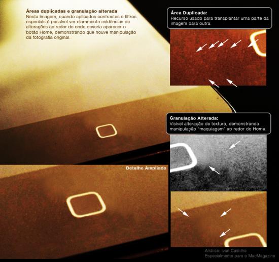 Análise da imagem do iPod touch com Home capacitivo