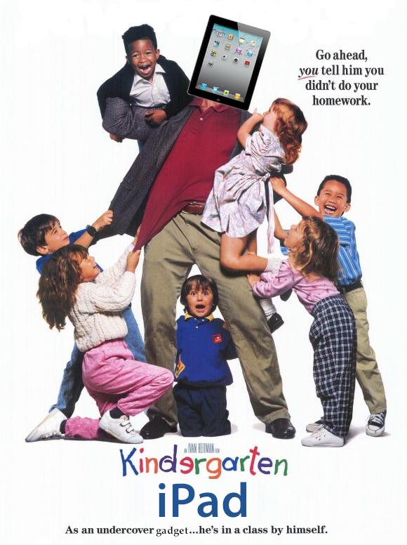 Um iPad no Jardim de Infância