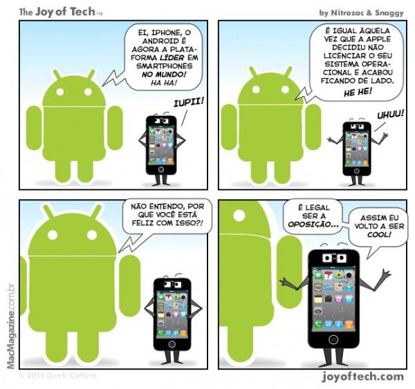 Joy of Tech - Para o iPhone, o Android ser o N1 não e problema nenhum