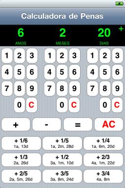 Calculadora de Penas para iPhone