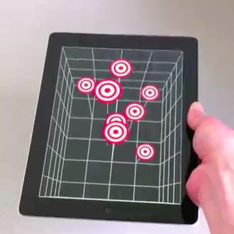 iPad mostrando imagens 3D