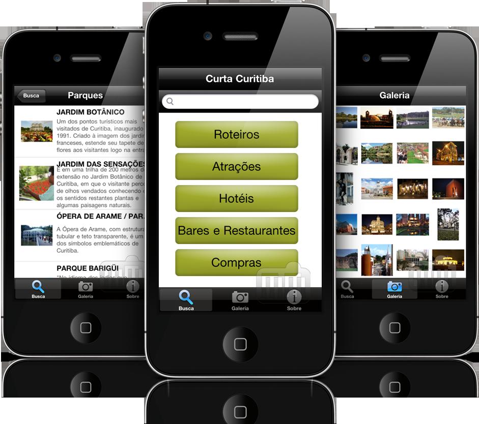 Curta Curitiba em iPhones