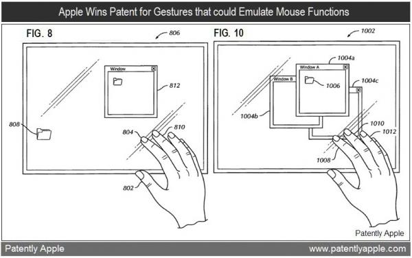 Patente de gestos controlando SO desktop