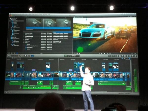 Final Cut Pro X sendo apresentado