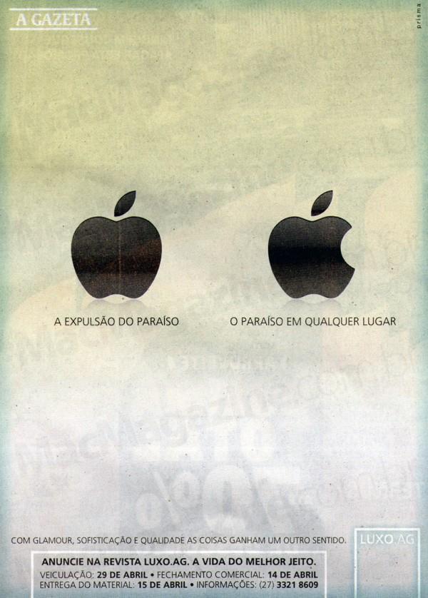 Propaganda da Apple no A Gazeta