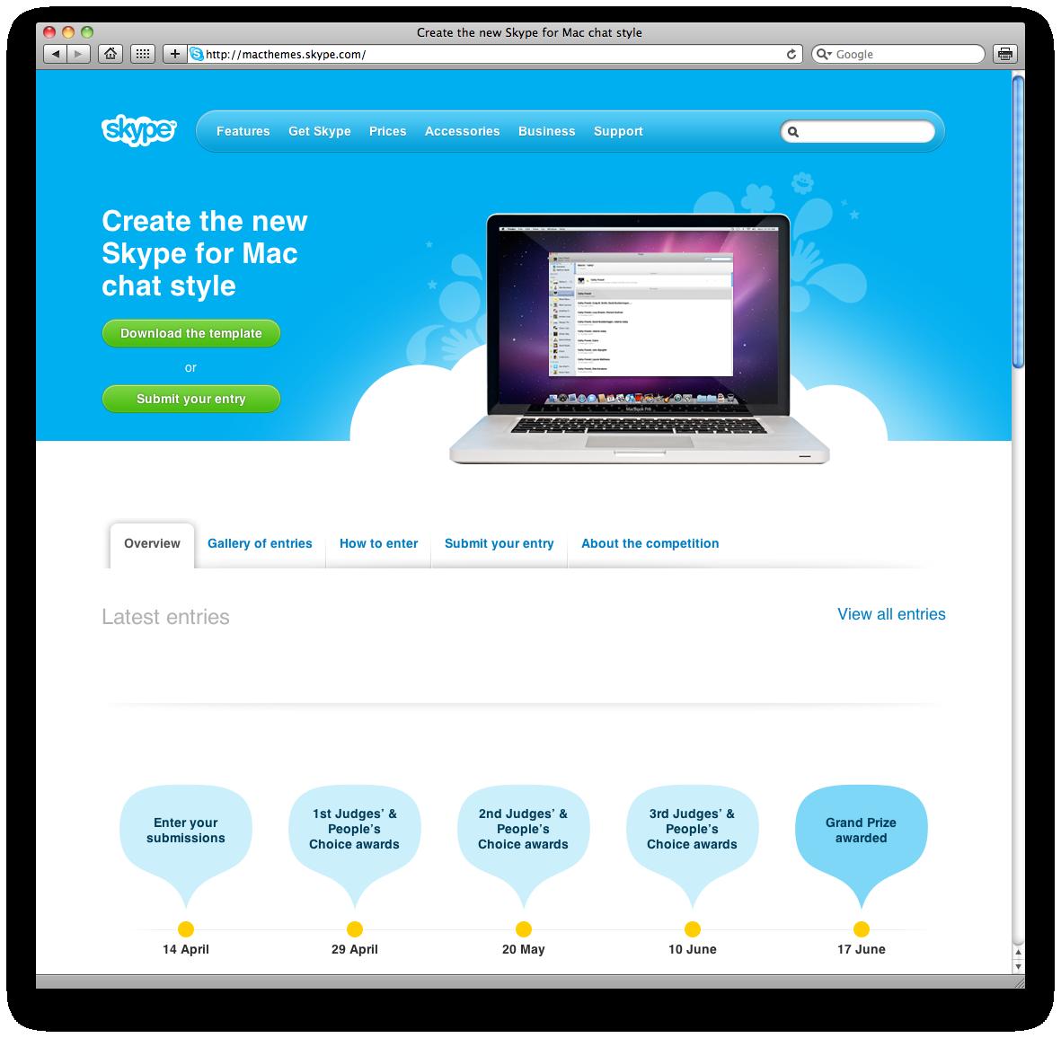 Concurso de visual do Skype