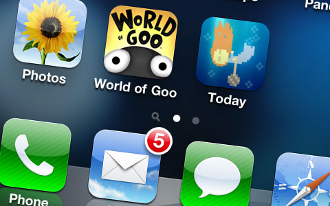 Ícone do World of Goo num iPhone