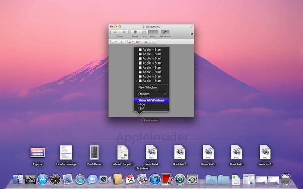 Exposé no Mac OS X Lion