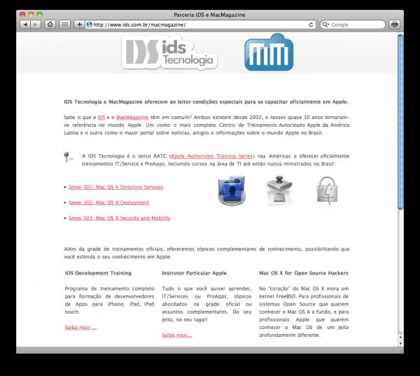IDS Tecnologia e MacMagazine em parceria