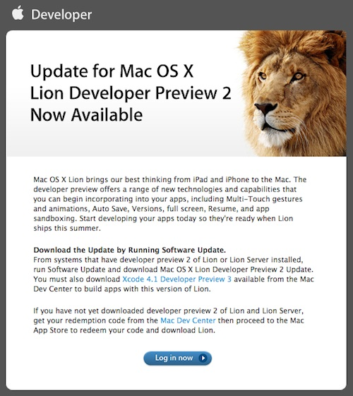 Update no Lion
