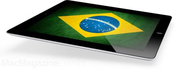 iPad 2 com a bandeira do Brasil