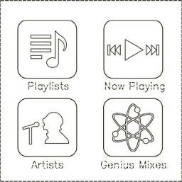 Design da interface do iPod nano 6G
