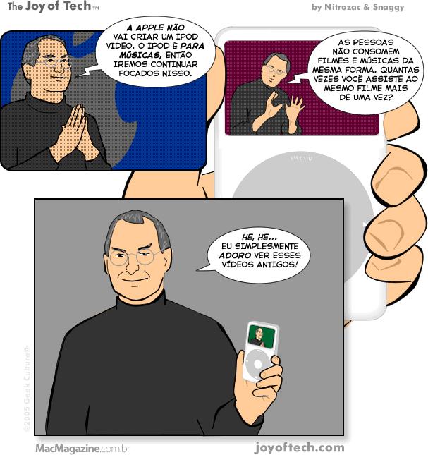 Joy of Tech - Recordacoes nostalgicas de Steve Jobs