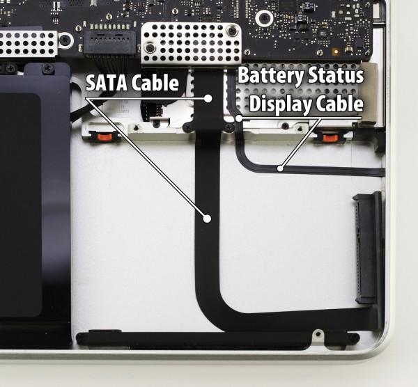 Disposição de cabos no MacBook Pro de 17 polegadas - OWC