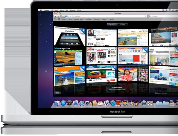 Safari num MacBook Pro