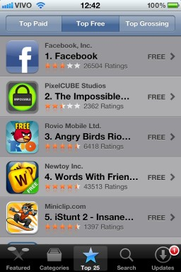 Top Free na App Store - iPhone