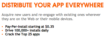 Promoção de apps na Tapjoy