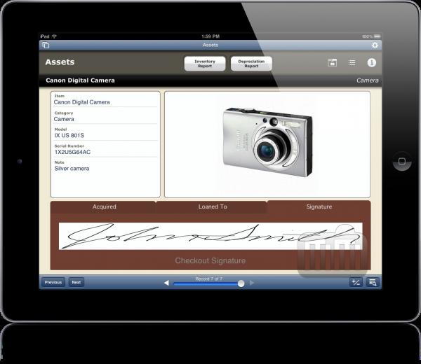 FileMaker Go para iPad