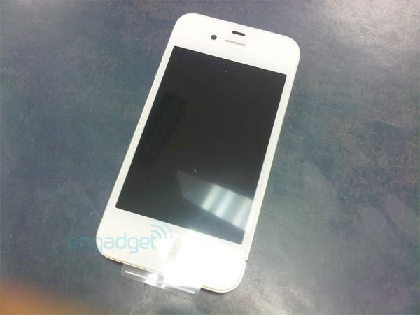 Suposto novo design do iPhone 4 branco