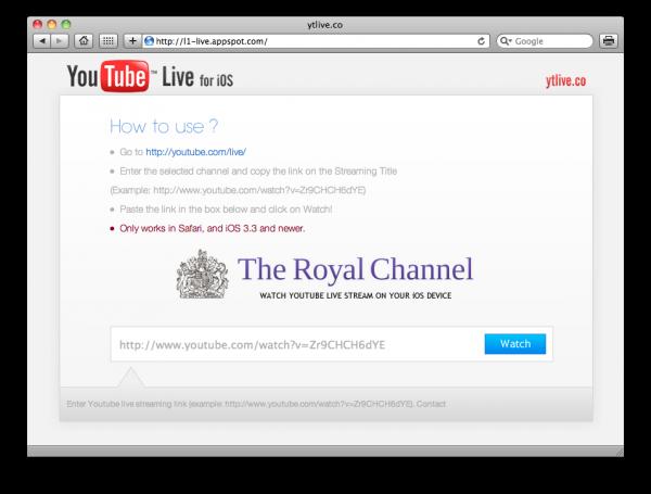 YTLive.co - YouTube Live no iOS