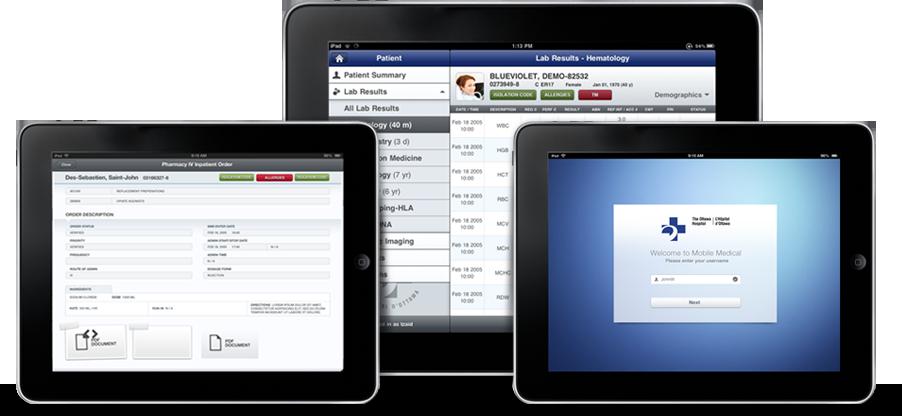 iPads do Hospital de Ottawa