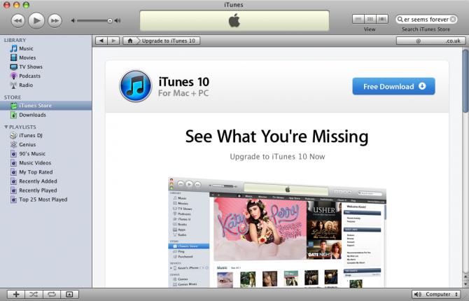 iTunes Store restrita em Macs G3