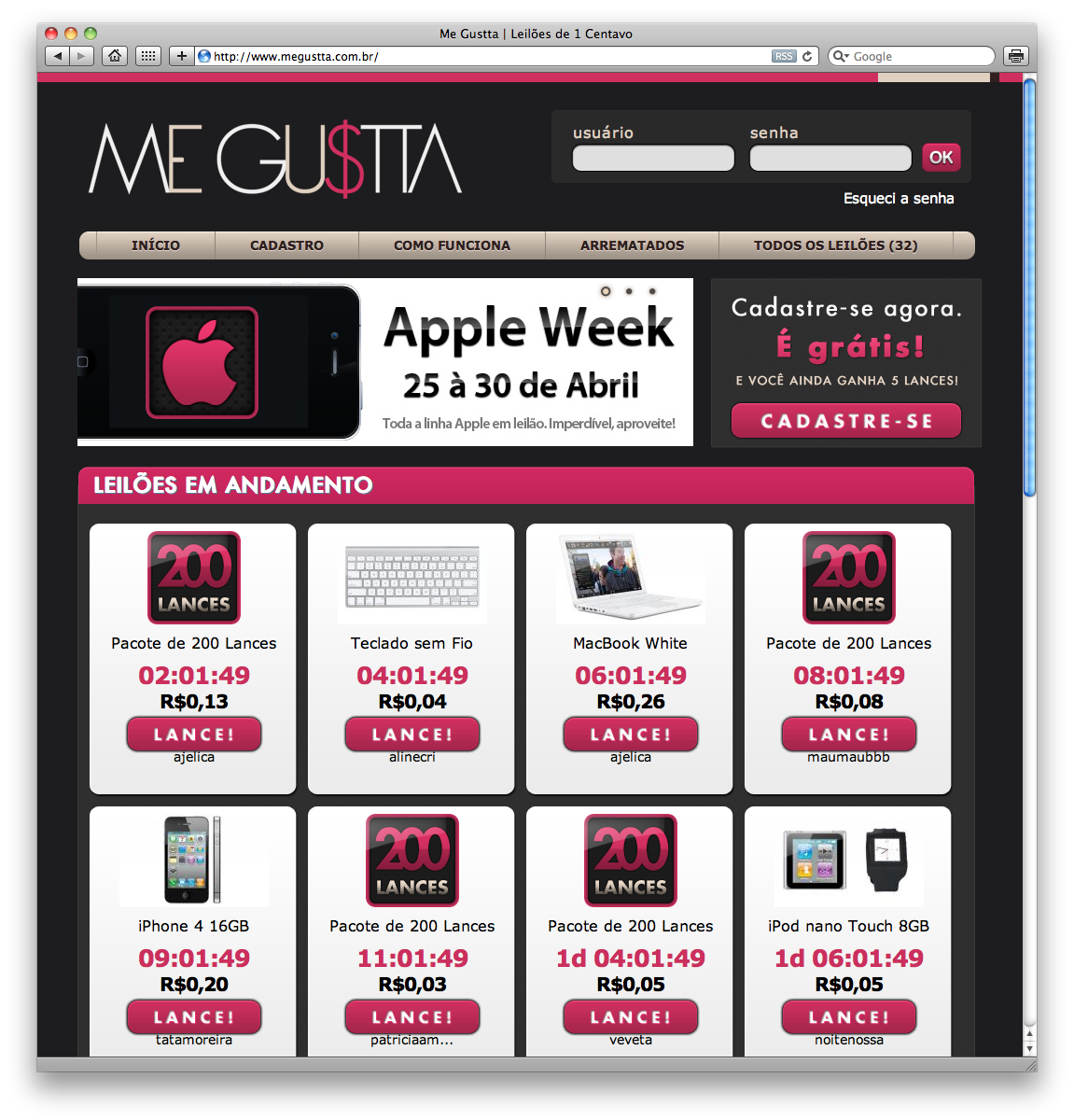 Apple Week no Me Gustta
