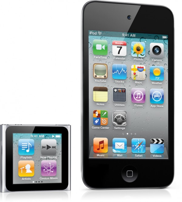 iPod nano e iPod touch