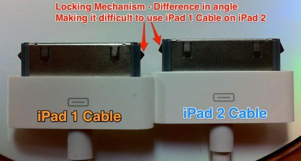 Conector de 30 pinos diferente no iPad 2