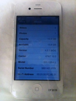 Protótipo de iPhone 4 branco